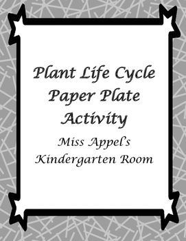 Paper Plate Plant Life Cycle Template