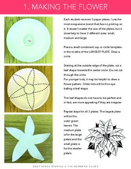 Paper Plate Poinsettia