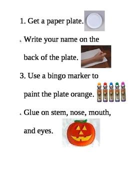 Paper Plate Pumpkin Art Symbol Chart