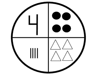 Paper Plate Puzzle Number Match