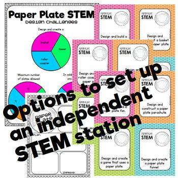 Paper Plate STEM Challenges
