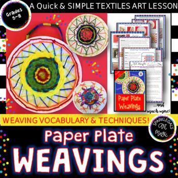 Paper Plate Weavings