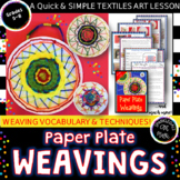 Paper Plate Weaving! Radial Design + Textile Art
