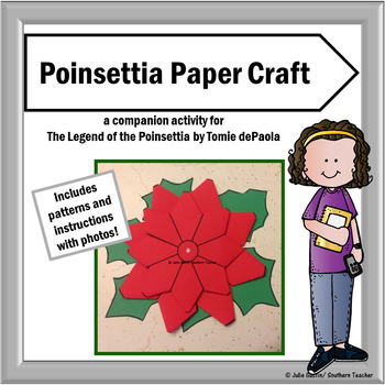 Poinsettia Craft Pattern with Photo Directions