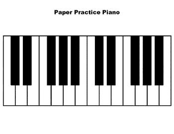 Paper Practice Piano Handout