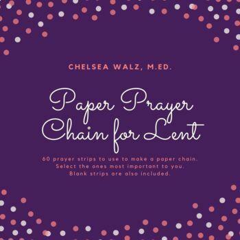 Paper Prayer Chain for Lent
