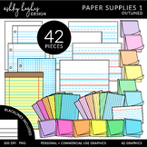 Paper Products Clipart {A Hughes Design}