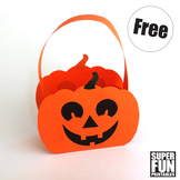Paper Pumpkin Basket craft