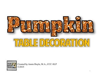 Paper Pumpkin Craftivity for Middle School