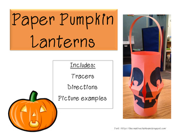 Paper Pumpkin Lantern, Halloween