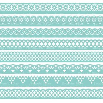 Paper Punch Aqua Borders Clipart & Vectors - Border Clip Art, Page Borders
