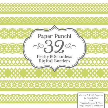 Paper Punch Bamboo Borders Clipart & Vectors - Border Clip