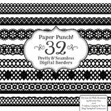 Paper Punch Black Borders Clipart & Vectors - Border Clip Art, Page Borders