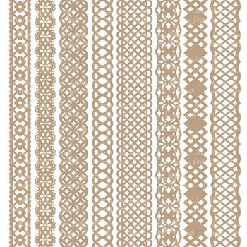 Paper Punch Champagne Borders Clipart & Vectors - Border Clip Art, Page Borders