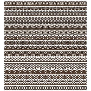 Paper Punch Chocolate Borders Clipart & Vectors - Border Clip Art, Page Borders