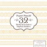 Paper Punch Cream Borders Clipart & Vectors - Border Clip Art, Page Borders