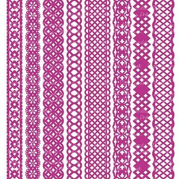 Paper Punch Fuchsia Borders Clipart & Vectors - Border Clip Art, Page Borders