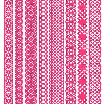 Paper Punch Hot Pink Borders Clipart & Vectors - Border Clip Art, Page Borders