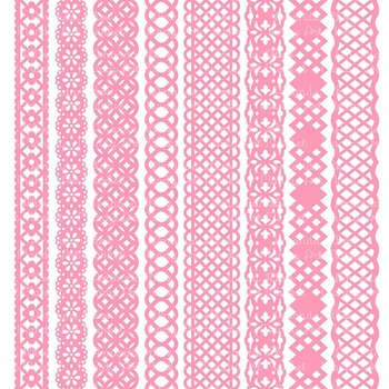 Paper Punch Pink Borders Clipart & Vectors - Border Clip Art, Page Borders