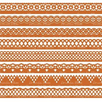 Paper Punch Pumpkin Borders Clipart & Vectors - Border Clip Art, Page Borders