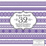 Paper Punch Purple Borders Clipart & Vectors - Border Clip Art, Page Borders
