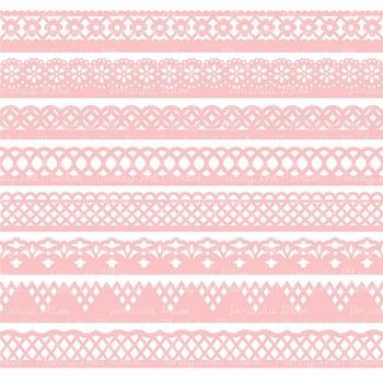 Paper Punch Soft Pink Borders Clipart & Vectors - Border Clip Art, Page Borders