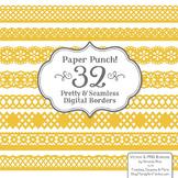 Paper Punch Yellow Borders Clipart & Vectors - Border Clip Art, Page Borders