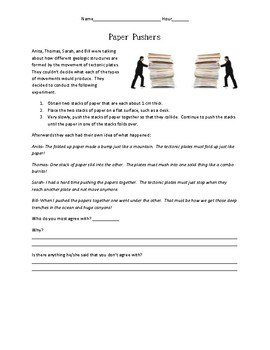 Paper Pushers:  A formative assessment probe