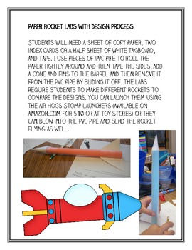 Paper Rockets and Design Process Labs, Set of 6