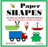 Paper SHAPES  (2D Shapes Color Cut Paste)