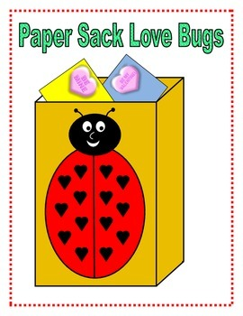 Paper Sack Love Bugs Templates