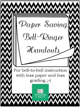 Paper Saving Bell Ringer Handouts