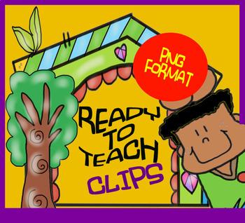 Paper - School Supplies - Cliparts set - 12 Items