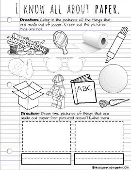 Paper Science Worksheet