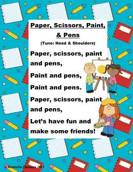 Paper, Scissors, Paint and Pens POEM