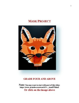 Paper Sculpture Mask: Grades 4 and Above