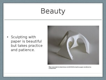 Paper Sculpture with Text Presentation