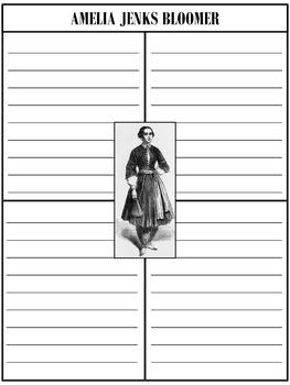 Paper Set : Amelia Jenks Bloomer