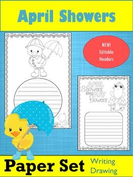 Paper Set : April Showers : Primary Lines