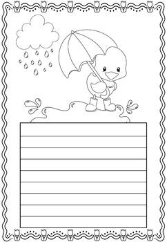 Paper Set : April Showers : Standard Lines