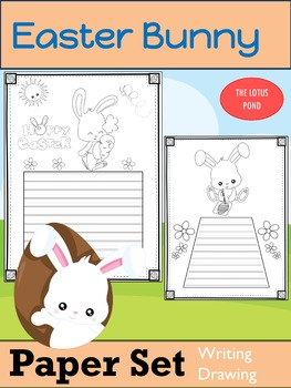 Paper Set : Easter Bunny : Primary Lines