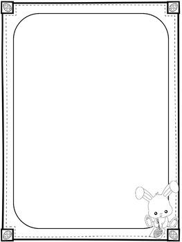 Paper Set : Easter Bunny : Standard Lines