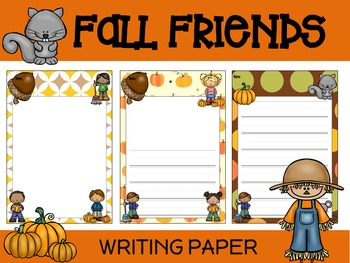 Paper Set : Fall Friends : Primary Lines