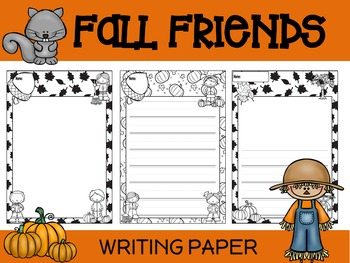 Paper Set : Fall Friends : Primary Lines - Black and White