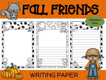 Paper Set : Fall Friends : Standard Lines - Black and White