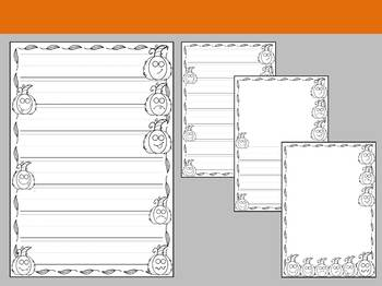 Paper Set : Pumpkin Patch : Primary Lines - Black and White