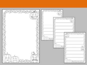 Paper Set : Pumpkin Patch : Primary Lines - Black and White, Halloween