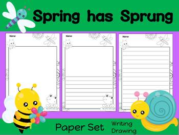 Paper Set : Spring has Sprung : Black and White - Standard Lines