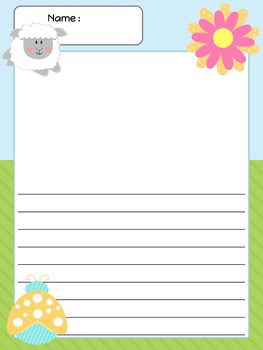 Paper Set : Spring - ladybugs and lambs