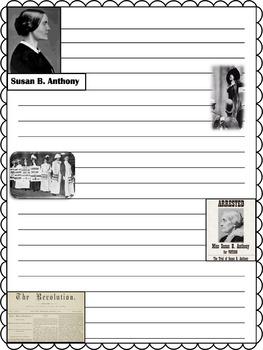 Paper Set : Susan B. Anthony